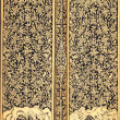 Ancient Traditional Thai Style Painting on the Door — Stock Photo