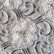 Lace with Flower Pattern on Black Background — Stock Photo