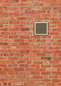 Vent on Old Brown Brick Wall, Vertical Pattern — Stock Photo