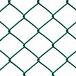 Green Wire Fence isolated on White Background, Horizontal pattern — Stock Photo #34238335