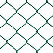Green Wire Fence isolated on White Background, Horizontal pattern — Stock Photo