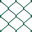 Green Wire Fence isolated on White Background, Vertical pattern — Stock Photo