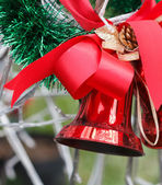 Red Christmas Bell — Stockfoto