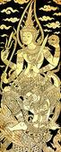 Vishnu on Garuda, Traditional Thai Style Painting on Temple's Door — Stock Photo