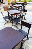 Dining Table Set in Outdoor — Stok fotoğraf