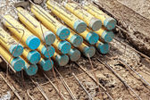 Underground electrical conduit — Stock Photo