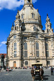 Dresden church destroyed during World War 2 is a sunny day — Stock Photo
