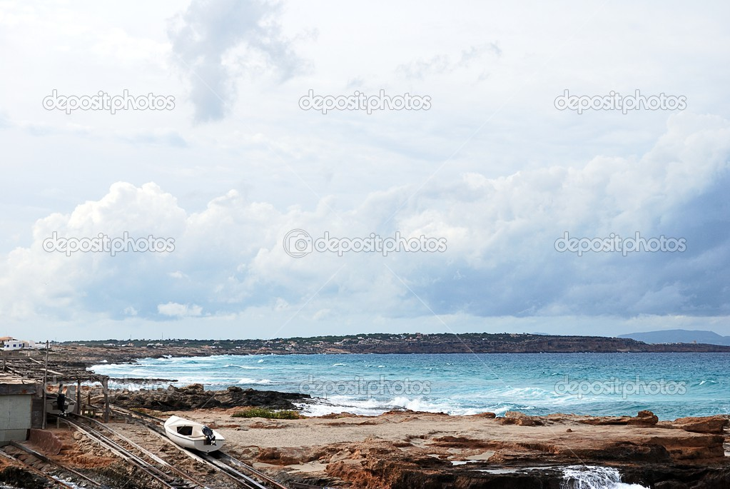 Landscape of a beach in Formentera  Foto de Stock   #13433277