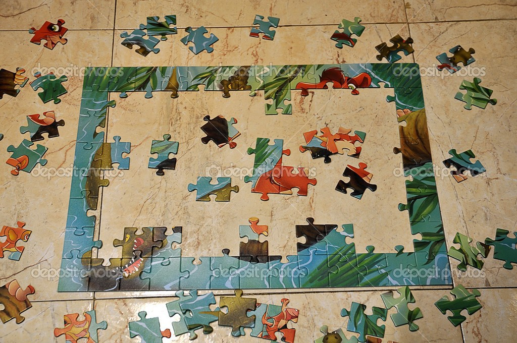 Puzzle waste — Stock Photo #13437235