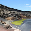 Green lake lanzarote — Stock Photo