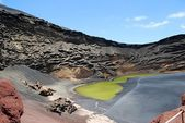 Green lake lanzarote — Stock fotografie