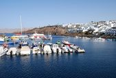 Lanzarote harbor — Stock Photo