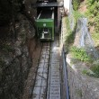 Green railroad - Stock Photo
