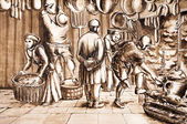 работники рисование — Стоковое фото