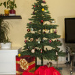 Christmas tree with gifts — Stock Photo #18300163