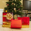 Christmas tree with gifts — Stock Photo #18300207
