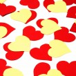 Stock Photo: Red and yellow hearts