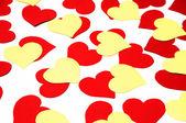červené a žluté srdce — Stock fotografie