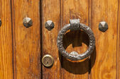 Gate with ring — Stock Photo