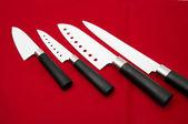 Cutting knives sharp white — Stock Photo