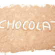 Chocolate powder background — Stock Photo