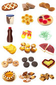 Food collage type pastries — Stock Photo