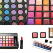 Foto de Stock  : Collage of paintings and makeup