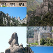 Collage landscape of Montserrat in Barcelona — Stock Photo