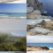 Thumbnails of Formentera Balearic Islands — Stock Photo
