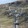Chairlift ski slopes — Stock Photo