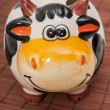 Stock Photo: Cow piggy bank