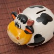 Cow piggy bank  — Stock Photo