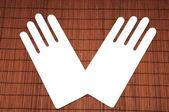 Cardboard hands — Stock Photo
