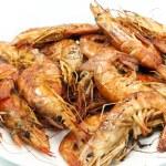 Fried shrimp — Stock Photo