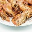 Fried shrimp — Stock Photo