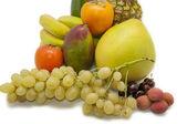 Tropical fruit set — Stock Photo
