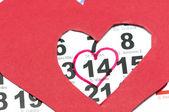 Kalendarz z Walentynki — Zdjęcie stockowe