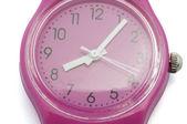 Pink clock — Stock Photo