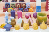 Candles of various shapes — Stock Photo