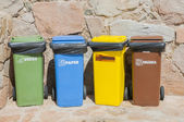 Different dumpsters — Stock Photo