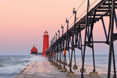 Grand Haven Lighthouse — Stock Photo