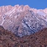 Dawn, pohoří sierra nevada — Stock fotografie