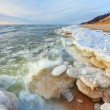 Winter, Lake Michigan Shoreline - Stock Photo