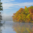 Autumn Shoreline Eagle Lake - Stock Photo