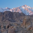 Lone Pine Peak at Sunrise - Stock Photo