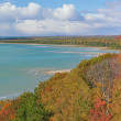 Stock Photo: Autumn Shoreline Lake Michigan