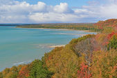 Autumn Shoreline Lake Michigan — Stock Photo