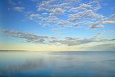 Lake Michigan, Moon, and Clouds — Stock Photo