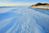 Winter, Lake Michigan — Stock Photo