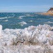 Stock Photo: Winter Lake Michigat Sleeping Bear Dunes